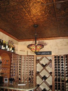 Perhaps a wine cellar with tin ceiling tiles? How would the ceiling tiles respond to the climate control?