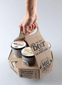 Un empaque puede hacer la diferencia entre si un producto se irá en el carrito de compras o si permanecerá en el anaquel, ya que es un puente de comunicación directo entre el producto y el consumidor. Su originalidad puede impactar de forma más directa en las ventas de un producto que la publicidad tradicional porque puede tener la característica de sorprender al receptor - Vía elcirculoweb - Cardboard Beer (Cartón de cerveza) #Branding #Packaging #Empaque