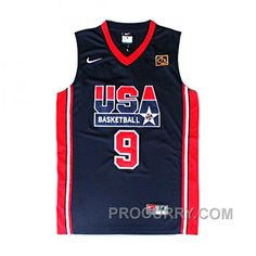 4643da535e1a Michael Jordan 1992 USA Basketball Dream Team  9 Navy Blue Jersey