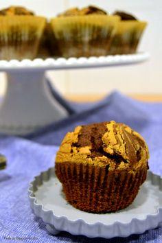 Ponto de Rebuçado Receitas: Muffins de chocolate com manteiga de amendoim