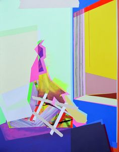 """Xuan Chen  Painting After Edward Hopper, 2013 oil and acrylic on canvas, 24"""" x 30"""" x 2.5"""""""