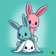 "906 Likes, 5 Comments - TeeTurtle (@teeturtle) on Instagram: ""Get off me! I'm FURious!  #TeeTurtle #Bunnies"""