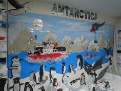3 class combined frieze/ wall display of Antarctica