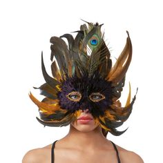 Antifaz de Plumas #mascaras #antifaces #carnaval