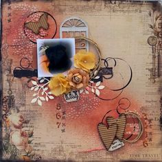 Cherished Memento's: Fly away used the new sketch from sketchabilities #132 #layout #scrapbook #mixedmedia
