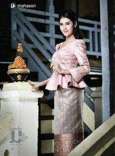 Lao Sinh. Traditional Lao dress.