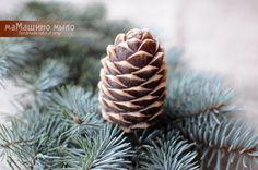 Купить Мыло ручной работы Шишка кедровая, новогоднее мыло - мыло ручной работы