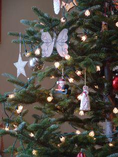 farm christmas. real christmas tree.