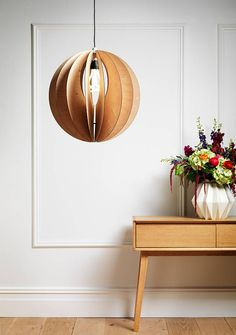 sphery birch plywood light shade by bykirsty | notonthehighstreet.com
