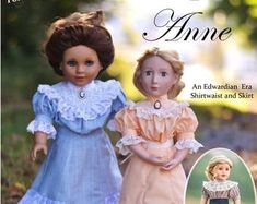 PDF Pattern Chemisettes Historical Underthings for 18 inch and 16 inch dolls American Girl A Girl for All Time Cossack Hat, Bonnet Pattern, Regency Dress, Classic Hats, Bow, Girl Dolls, Boy Doll, Two Piece Dress, 18 Inch Doll