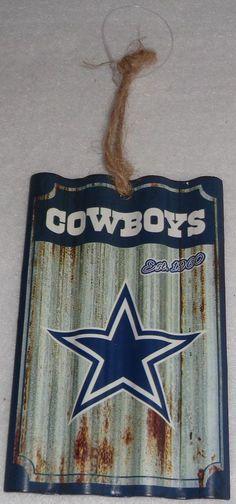 Dallas Cowboys NFL Metal Farmhouse Rustic Ornament Licensed Christmas Decoration #DallasCowboys #DallasCowboys
