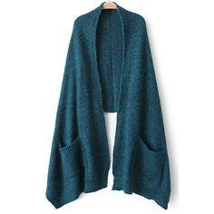 29,90EUR Schal mit Taschen petrol grün
