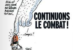A la Une de #marianne, un dessin de #Tignous    #JeSuisCharlie
