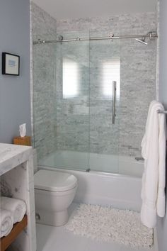 """""""View this Great Contemporary Full Bathroom with Waterfall countertop & Concrete tile by Dawn Hamilton. Discover & browse thousands of other home design ideas on Zillow Digs."""""""