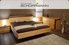 massives Birken- und Nussholz / mit seitlichen Verbau / zeitloser Stil Birken, Furniture, Home Decor, Carpentry, Bed, Timber Wood, Decoration Home, Room Decor, Home Furnishings