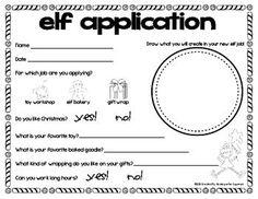 Writing - Christmas Elf Application Freebie!