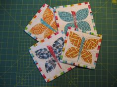 coasters with butterflies