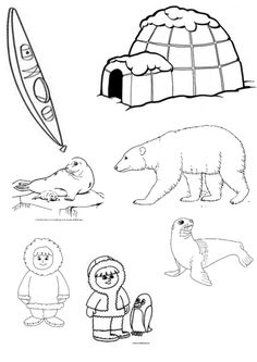 drawing Artic Animals, Polo Norte, Geography For Kids, Crafts For Kids, Arts And Crafts, Kids Learning, Pencil Drawings, Snoopy, Embroidery