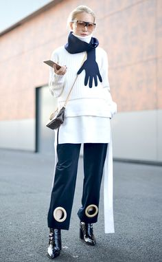 Lin Xiao from Street Style: Scarves  Scarf by Jacquemus