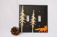 Hey, I found this really awesome Etsy listing at https://www.etsy.com/listing/162424753/fox-room-decor-fox-light-switch-cover