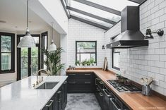 """186 Likes, 6 Comments - Houzz Australia (@houzzau) on Instagram: """"An industrial dark green kitchen crafted with a vintage twist. Project: @sustainablekitchen Photo:…"""""""
