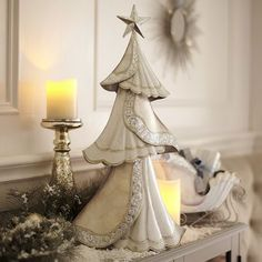 Capiz Tree  - White & Silver