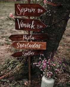 Find your way , handwritten wedding sign Esküvői irányítótábla
