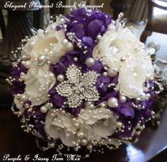 Custom PURPLE BROOCH BOUQUET  Stunning by Elegantweddingdecor, $225.00