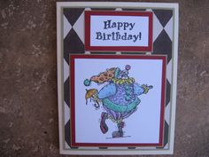 Birthday Card Handmade with Hand Stamped by eyepoppingcreations, $4.00