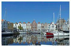 The harbour in Goes, Zeeland, Netherlands