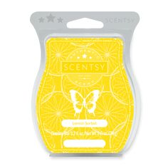Lemon Sorbet Scentsy Bar -  Create a beautiful aroma in your home with this deliciously scented Lemon Sorbet Scentsy Bar.