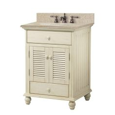 Foremost CTAABG2522D Cottage 25-Inch Width x 22-Inch Depth Vanity with Beige Granite Top, Antique White Foremost http://www.amazon.com/dp/B00FHUFEL8/ref=cm_sw_r_pi_dp_0TgLtb19RDTWFSQB