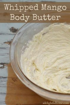 Preparing a simple body butter is quick and easy. However, some body butters can become a little too firm and difficult to apply or are excessively greasy. This whipped mango body butter aims to avoid both of those pit falls and turn out light and fluffy, almost like a whipped topping, silky smooth, and highly absorbent. Just be careful of others are around when you make this as the whipped butter can easily be mistaken for whipped cream or some other delicious dessert! Ingredients 1/2 c...
