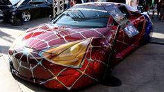 Toyota Celica 2000 Tuned Spider-man Car