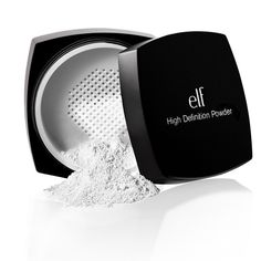 High Definition Powder ❤ by elf. Ordered it, love it. Very messy but works great, lightweight and makes your skin silky and soft. Inexpensive. Put a light coat on my face after applying foundation and again after applying bronzer/blush