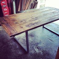 Industrial City Farm Table by Ryan  Surratt