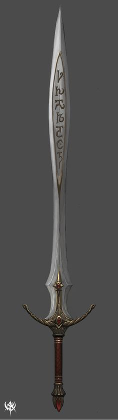 I like this sword and the engravings in the middle, its quite mythical.