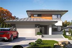 Projekt domu Kadyks 2 Home Building Design, Building A House, House Plans 2 Storey, Mediterranean Style Homes, Home Fashion, Bungalow, My House, Architecture Design, Sweet Home