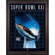 "Fanatics Authentic 1987 Giants vs. Broncos Framed 36"" x 48"" Canvas Super Bowl XXI Program"