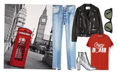 """London baby"" by moakarlsvard on Polyvore featuring Piccadilly, Frame, Acne Studios, Yves Saint Laurent and Ray-Ban"