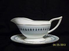 Minton Ancient Lights Gravy Boat with Attached Under plate Discontinued England