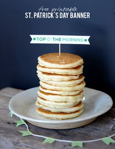 top o' the morning st patrick's day printable on aliceandlois.com