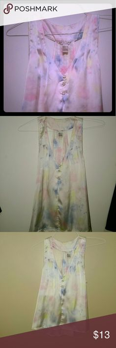 F21 girlie & summery top Absolutely adorable.    Halter back. Silky to the touch. So cute with blue jeans. One tag at neck removed. Worn once. Forever 21 Tops