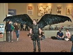 Fallen Angel Wing Costume [ Articulating Wings ] - YouTube