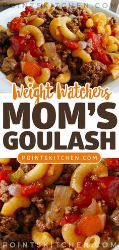 This healthier goulash recipe an easy one pot meal! Instant Pot Goulash is a fast dinner that the whole family will love! Weight Watchers Casserole, Weight Watchers Goulash Recipe, Weight Watcher Ground Beef Recipe, Weight Watchers Soup, Weight Watchers Smart Points, Weight Watcher Dinners, Plats Weight Watchers, Weight Watcher Recipes, Weight Watcher Girl