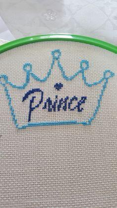 Prince erkek bebek kral tacı kanavice