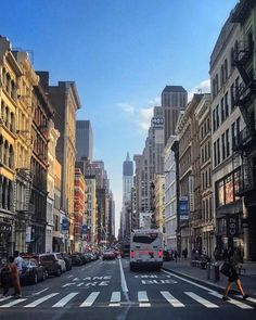 Looking down Broadway New York City