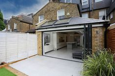 A beautiful classic pitched to hip roof kitchen extension in Tooting. A beautiful classic pitched to hip roof kitchen extension in Tooting. House Extension Plans, House Extension Design, Glass Extension, Roof Extension, Extension Ideas, Bungalow Extensions, Garden Room Extensions, House Extensions, Kitchen Extensions