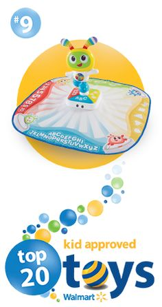 This low-cost interactive play mat makes learning fun. As your little one moves to learn their ABCs, they're rewarded with bright lights and fun songs. #top20toys #christmas #christmastoys #babytoys #babysfirstchristmas #playmats #fischerprice #musicaldancemats #musicalmats #dancemats #SaveMoneyGiftBetter