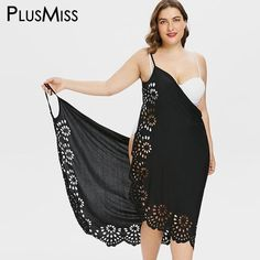 Plus Size Openwork Floral Slip Cover Up Dress - Beach trip dress vintage. - Bebek elbiseleri dikiş - Plus Size Openwork Floral Slip Cover Up Dress – Beach trip dress vintage dress aest - Women's Plus Size Swimwear, Trendy Swimwear, Plus Size Bikini, Kids Swimwear, Plus Size Dresses, Plus Size Outfits, Cute Dresses, Maxi Dresses, Plus Size Clothing